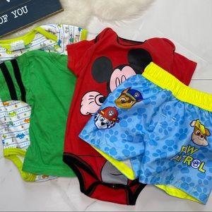 🎉Bundle baby boy bodysuit top swim shorts B7-33
